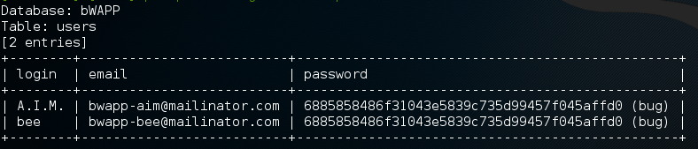 exploit bWAPP using SQLmap · Linux notes